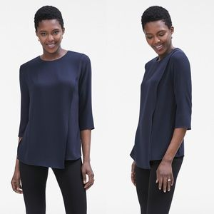 MM LaFleur | The Bourgeois Blouse in Navy
